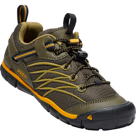 Keen Chandler CNX Shoes Youth Dark Olive/Citrus